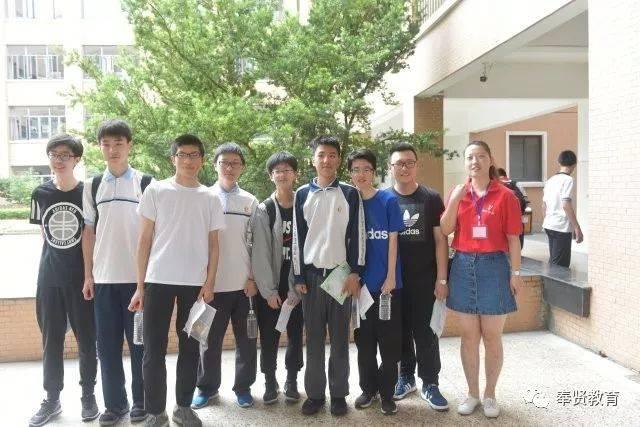 全区共安排奉贤中学,致远高中,古华中学,奉贤中等专业学校和惠敏学校