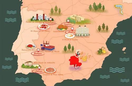 西班牙美食地图