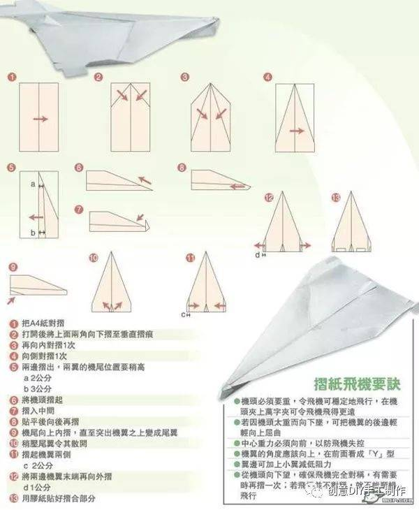 《16种超酷的纸飞机折法》教你折出最会飞的一架纸飞机!图片
