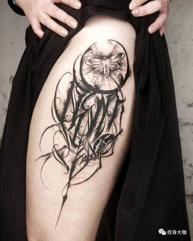 暗黑系手绘纹身图片
