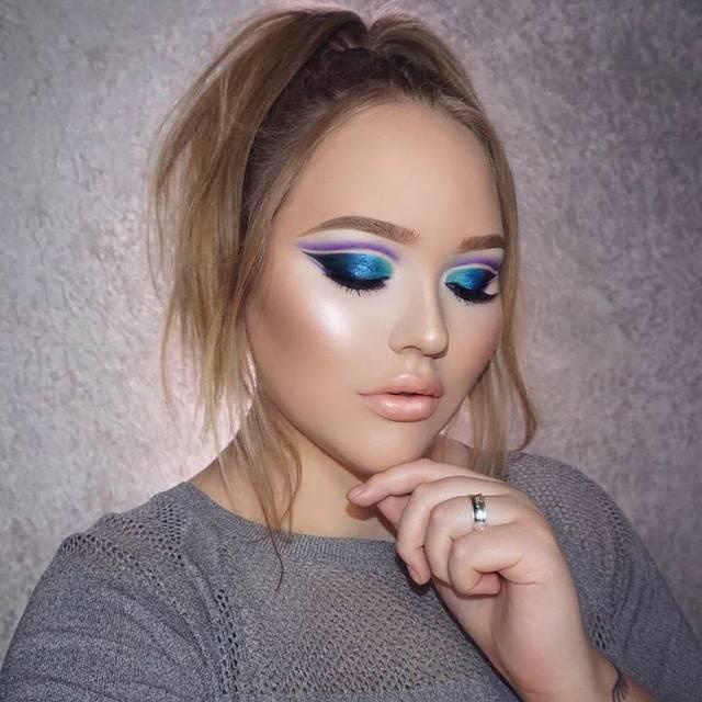 欧美妆容_而现在,大多数欧美妆容都以精致的眼妆为主,利用色彩的渐变和材质的不