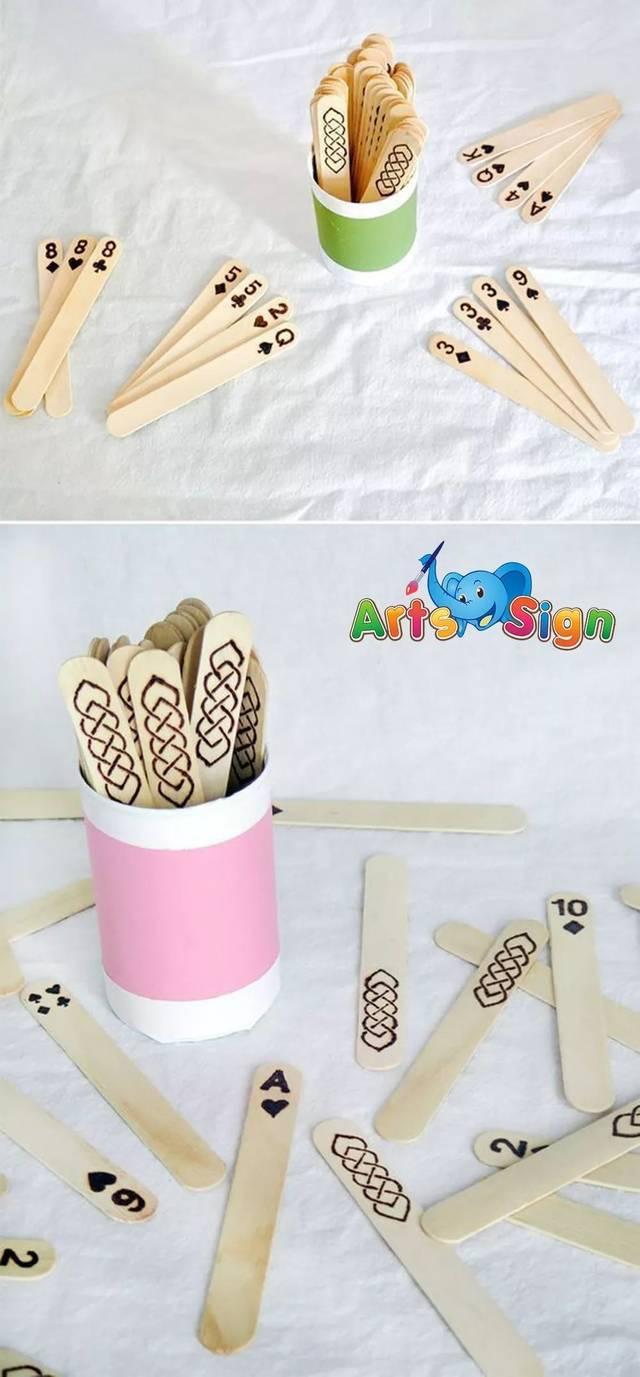 准备材料:雪糕棒,彩笔,手工胶带纸,折纸,扭扭棒 制作方法:可以直接画