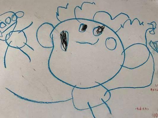 在小班孩子稚嫩的涂鸦画中,老师又是怎样的呢?