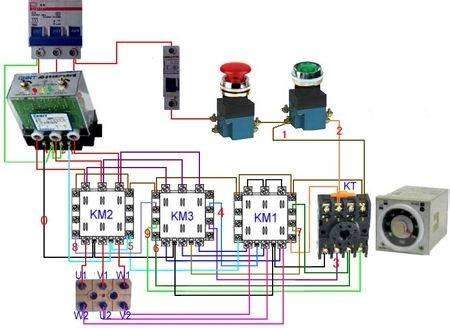 时间继电器接线图 时间继电器的接线方法有几种,控制接线,工作控制