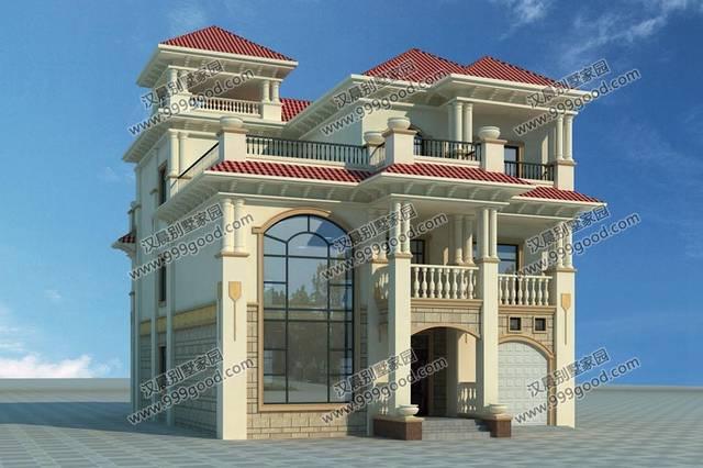 10米开间的3栋农村别墅,漂亮外观 实用布局,施工师傅建得都起劲