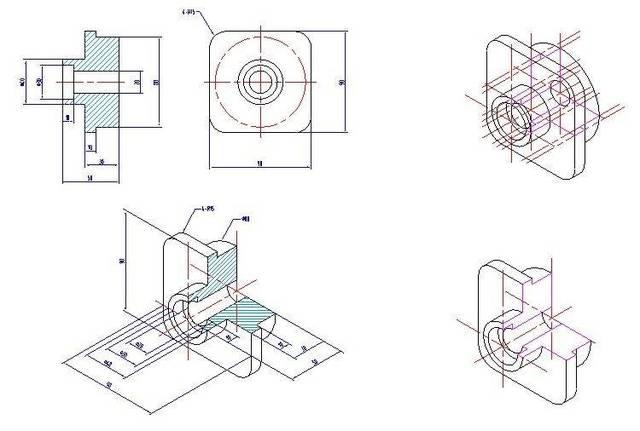 分享一波cad机械设计图纸练习图,有需要的小伙伴赶紧看看吧,这里