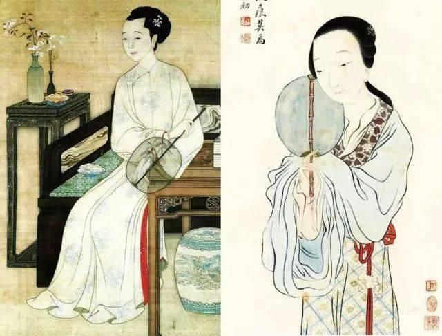 古代女子不能在公共场合露面 出门会带一把团扇遮脸 这个习惯一直