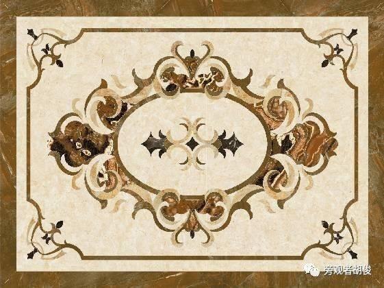 四角嵌套优美图案也是常见的水刀拼花造型,轻奢之感呼之欲出.图片
