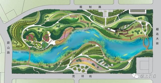 """8公顷 芳草公园平面图 芳草公园 以""""芳草"""",""""森林""""为景观设计主线 以"""