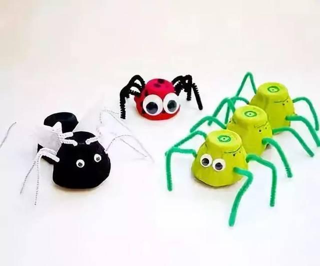 幼儿中班手工制作蜘蛛