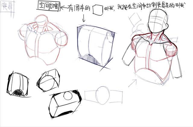 空人体_【经验】漫画人体结构练习教程