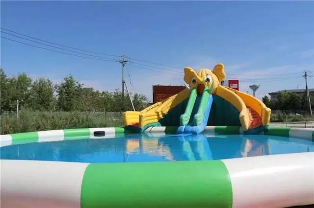 儿童泳池 童乐湾专门为小孩子们准备了他们的小世界 从小象滑滑梯上