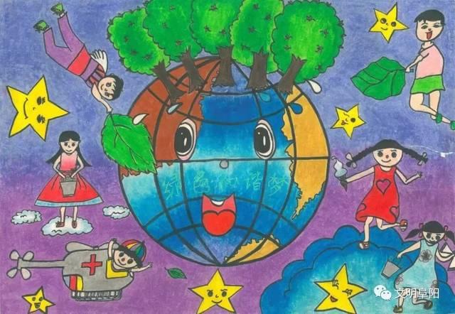 """【童画新时代 手绘价值观】生态文明是最悦目的""""文明"""""""