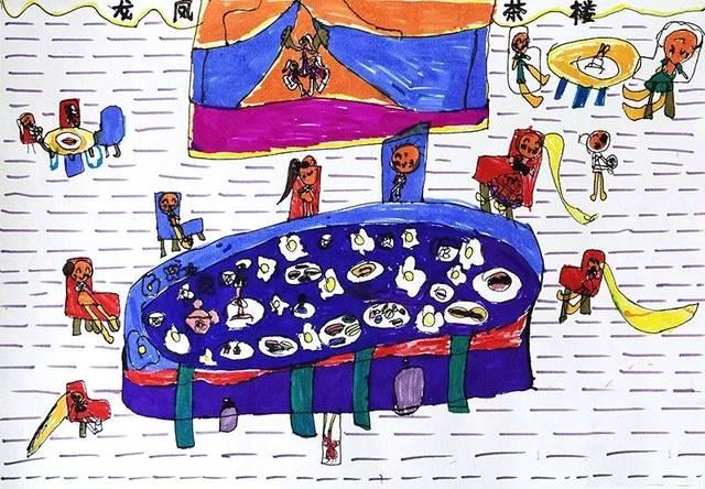 儿童手绘中国长城