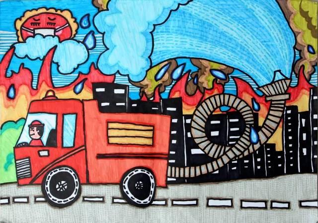 第三届宁德市儿童消防绘画,作文大赛获奖作品揭晓,看看有没有你.图片