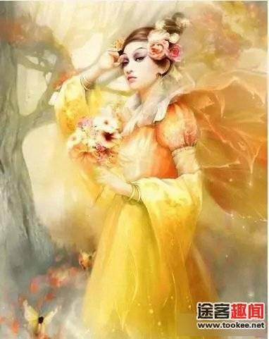 妖手绘古代美女图片