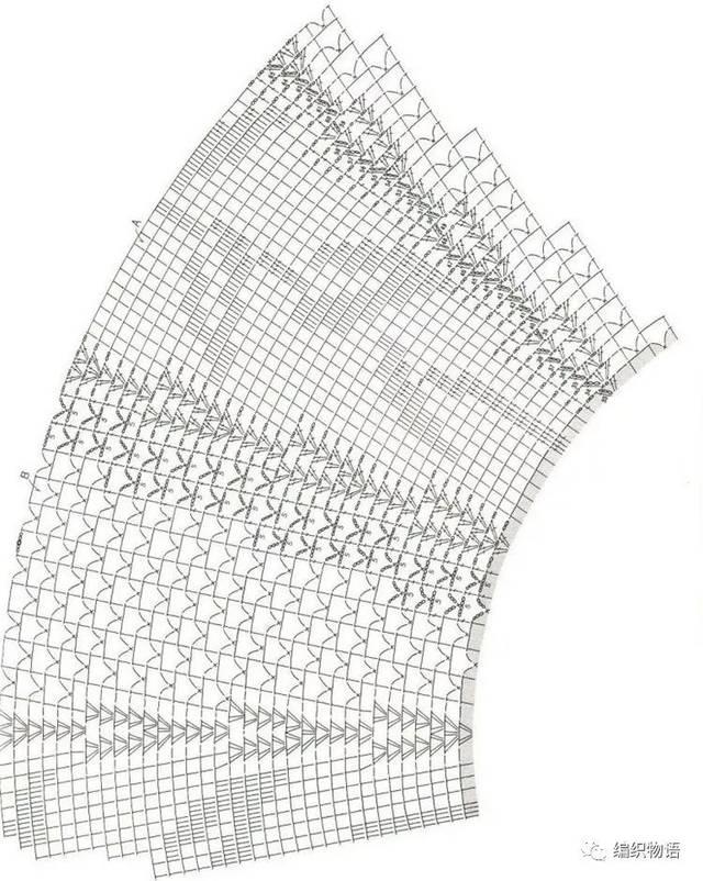 自带高级感的超级大型钩针台布,图解巨详细