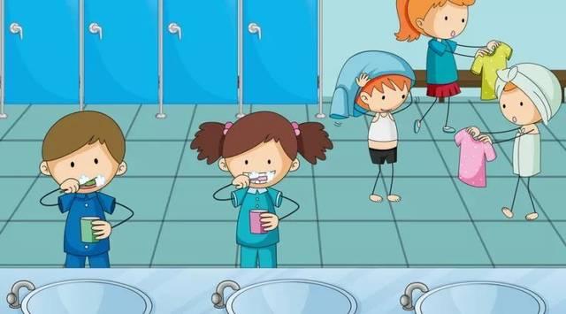 3,自理能力 幼儿园的集体生活中, 孩子们要自己吃饭,穿脱衣服,上厕所图片