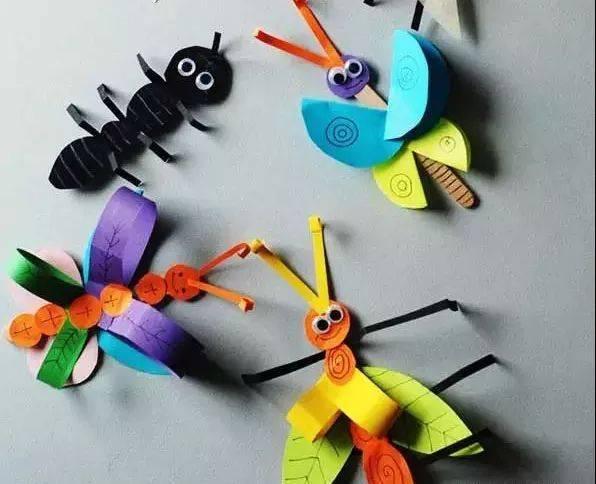 【创意手工】昆虫小手工,就是这么逼真!让孩子瞬间爱上大自然!