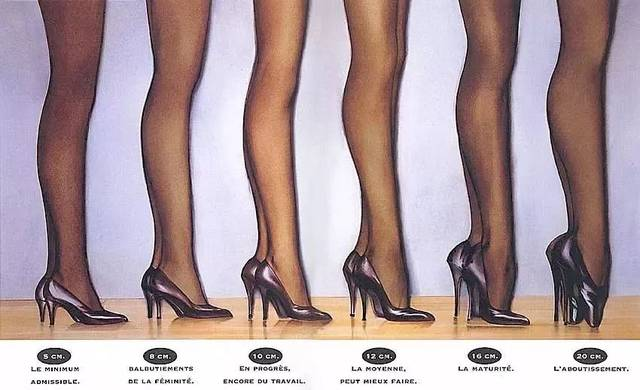 而当鞋跟高到 4 英寸的时候,49 位男士愿意逗留却步.