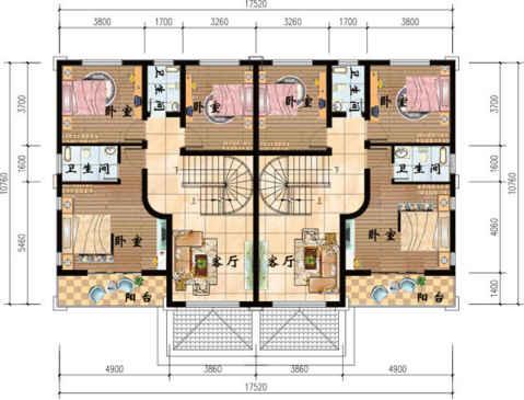 4款農村雙拼自建房,簡單實用造價低,兄弟一起建房的最佳選擇圖片