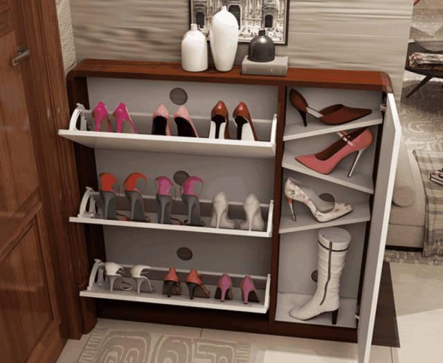 烤漆翻斗鞋柜