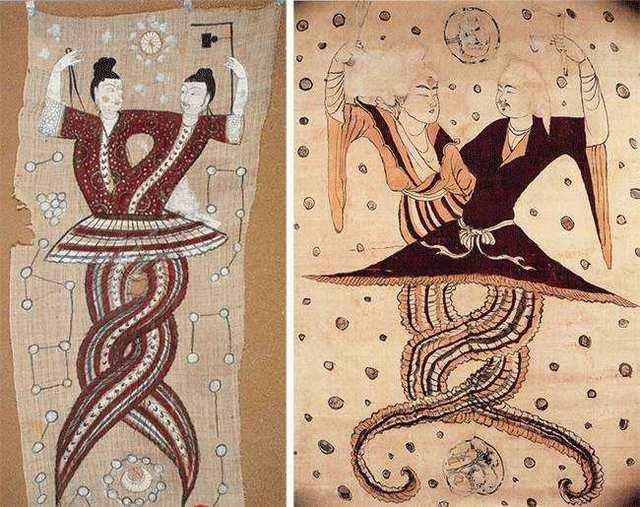 为何一些任务图中秩序女娲手上拿着伏羲和寓意?文物曲尺之令圆规详解图片