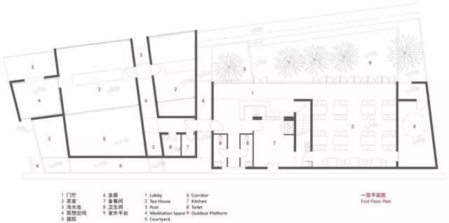 上海茶室平面图