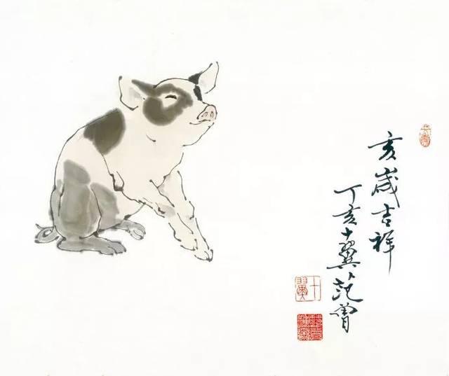 现当代最具争议的画家范曾与中国十二生肖图图片