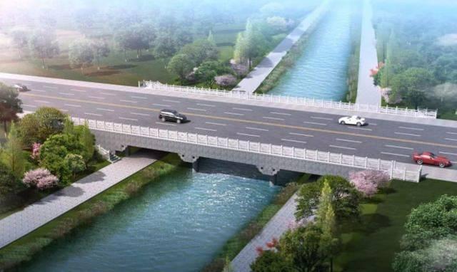 道路等级:城市支路 设计车速:40km/h 道路全长约1807m (桥梁位置图)