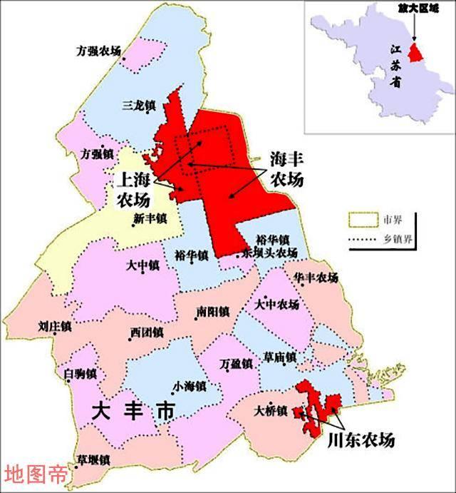 上海在江苏盐城有块飞地,面积是徐汇区的5倍多