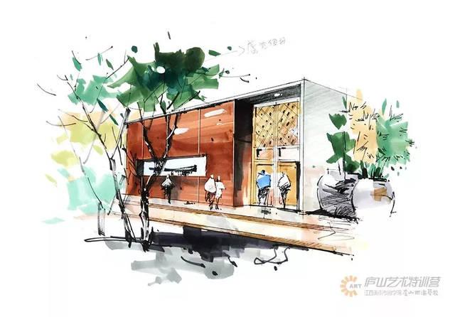 建筑手绘作品欣赏 庐山艺术特训营友情分享,转载请注明出处 end