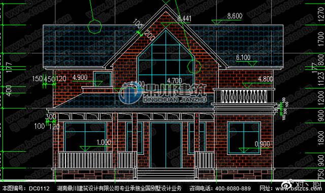 二层美式风格农村自建房设计效果图及施工图