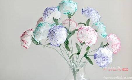 06 花朵吊环  07 自制皱纹纸花朵  08 立体剪纸花  09 滤纸花朵  10