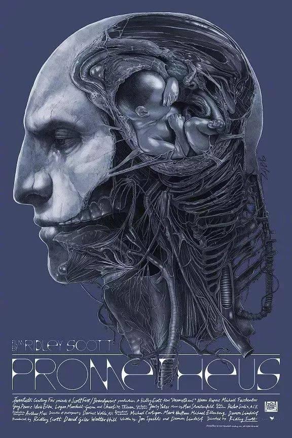 《异形》系列的海报致力于展现h.r吉格原画的黑暗美学风格.