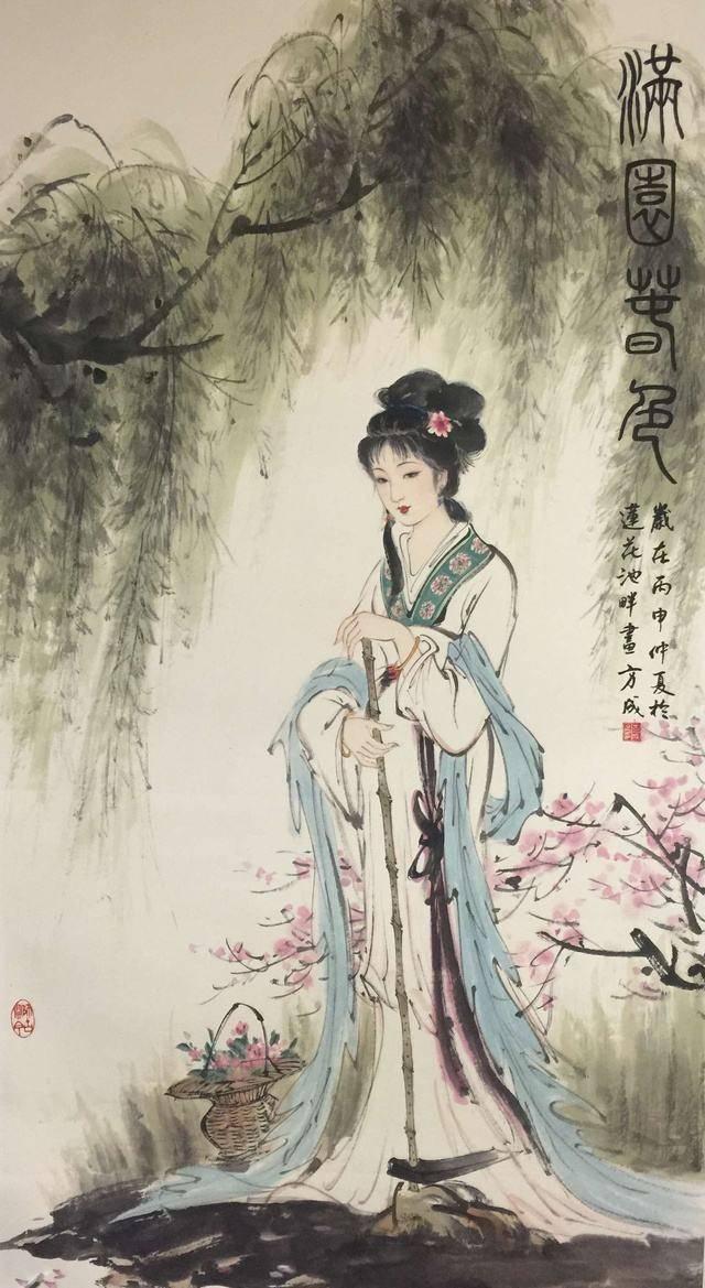 中国著名写意工笔人物画赏析,工笔花鸟画中写意性分析