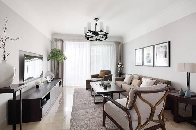 西安装修125平的房子案例效果图图片