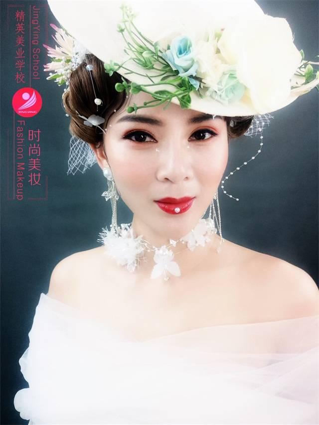 高级化妆师林老师时尚化妆作品,时尚美妆作品分享图片