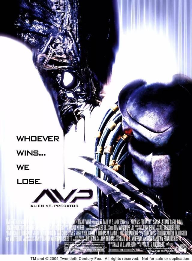 两部和异形互动的avp(alien vs predator)系列:《异形大战铁血战士1,2