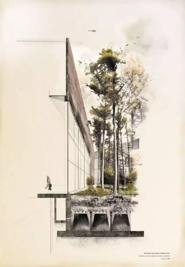 创意建筑手绘,告别单调的透视效果图!