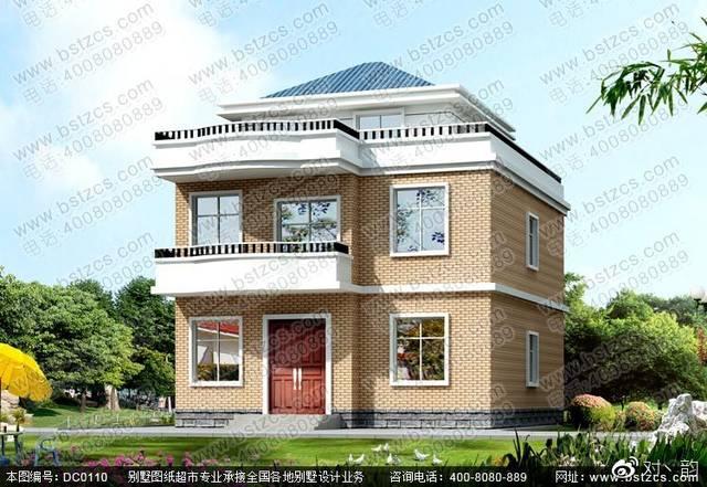 二层半带露台农村自建房设计效果图及施工图图片