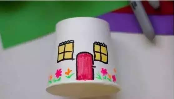 儿童手工制作房顶方法