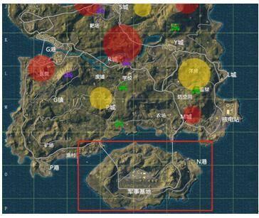 在《绝地求生》的海岛这个地图中,最南边的军事基地是一个物资非常肥