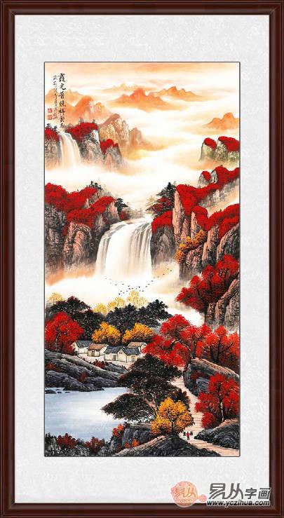 玄关挂这五幅山水画妙极了!旺财更镇宅_手机搜狐网图片