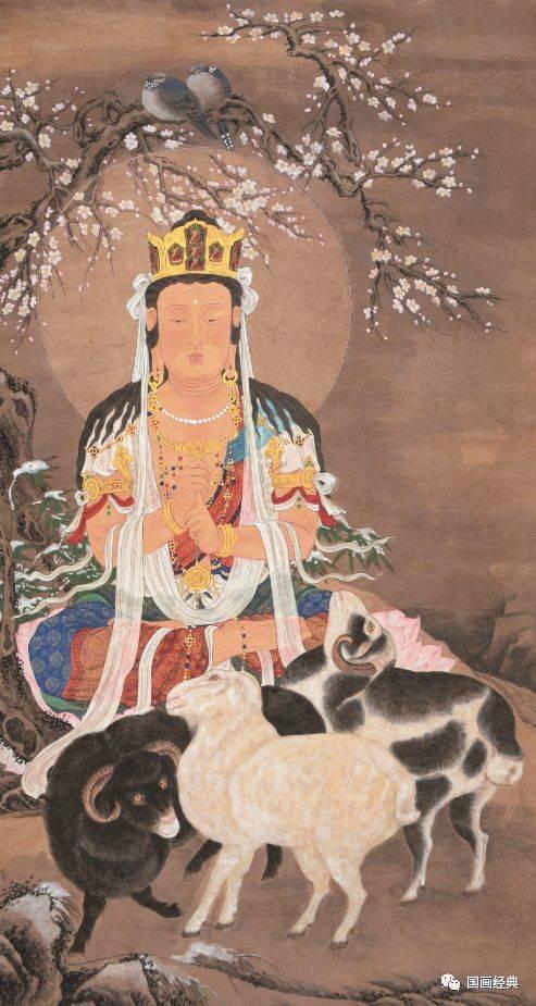 【国画经典】美女画家许莹十二生肖本生佛系列作品欣赏