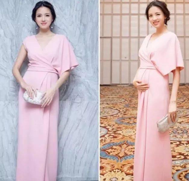 怀孕六个月以后,肚子会特别明显,穿婚纱和行动都不太方便.