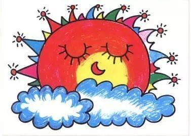 我们要鼓励孩子画出属于自己的,独一无二的太阳.