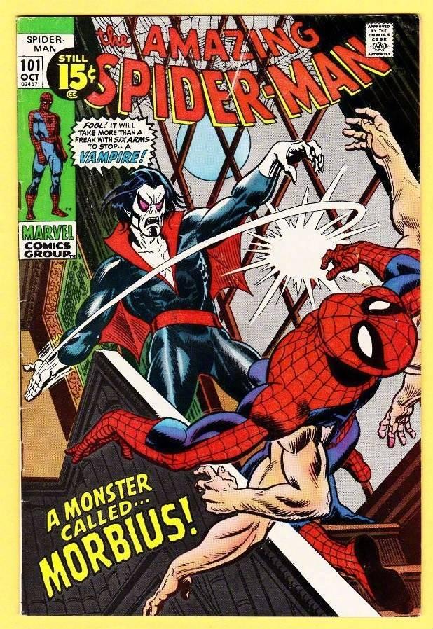 吸血鬼morbius是漫威漫画的超级反派,初次登场于《a漫画蜘蛛侠》(the惊悚旗下博物馆图片