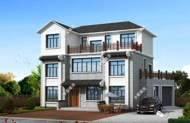 3款农村三层小别墅,新中式风格经久耐看,永不过时!建完不后悔!