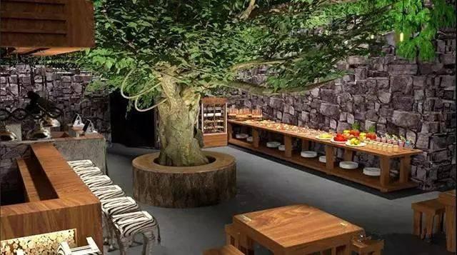 kakacafe为多功能动物主题餐厅 以动物主题为主要设计元素 以热带雨林